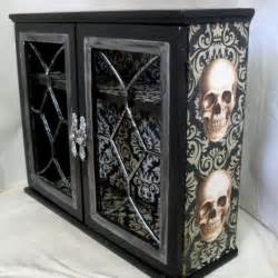 Home Decor Skulls by Gothic Home Decor Gothic Cabinet Reserved For Sarah Becker