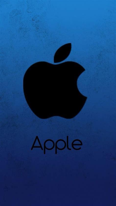 wallpaper for apple 5 s dark apple logo with blue grunge background wallpaper