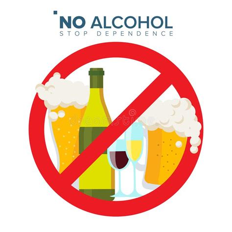 cartoon no alcohol no alcohol sign vector strike through red circle alcohol