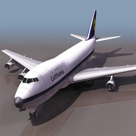 commercial plastic model airplanes boeing 747 commercial airliner 3d model 3ds files free