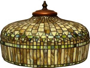 stained glass lamp with taupe grey and brown lamp shade stained glass by hubert