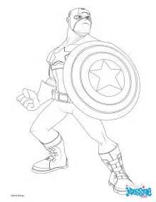 coloriages avengers captain america fr hellokids