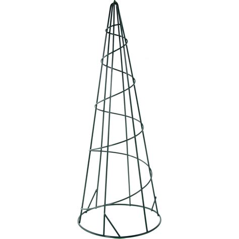 15 quot metal wire cone form green 171860 craftoutlet com