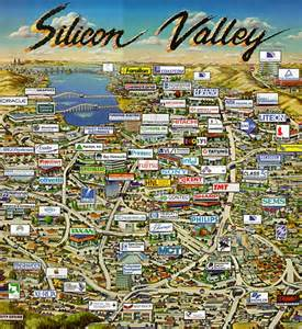 silicon valley california map best place in silicon valley for your next startup