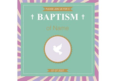 Happy Christening Card Template by Baptism Card Christening Vector Free Vector