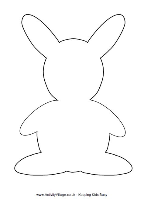rabbit template simple outline of rabbit for crafts