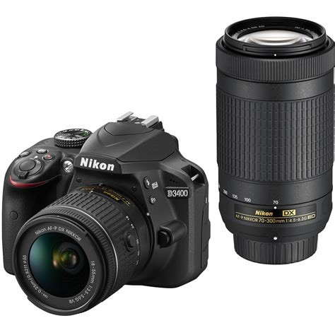 nikon d3400 dslr with 18 55mm and 70 300mm lenses 1573
