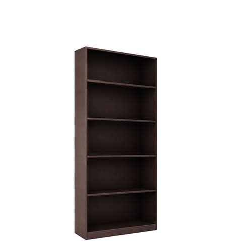 6 foot bookcase with 5 shelves contempo space