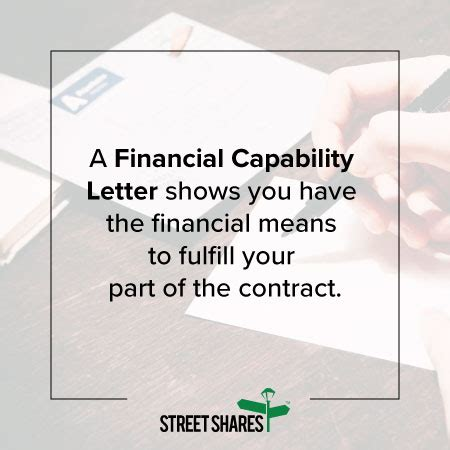 Financial Capability Letter why you should consider a financial capability letter