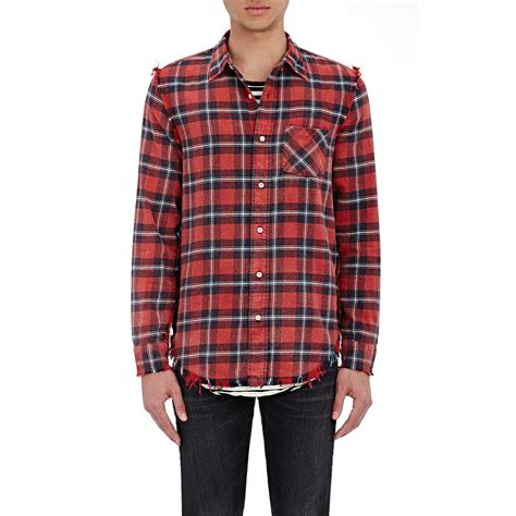 Plaid In Or Out by R13 Plaid Inside Out Shirt In For Lyst