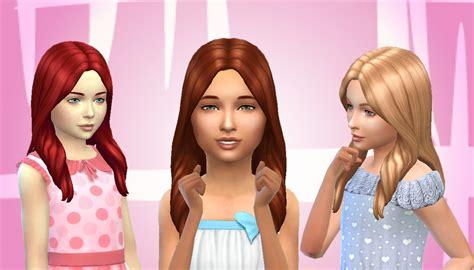 sims 4 mod long child hair sims 4 hairs mystufforigin oblivion hair for girls