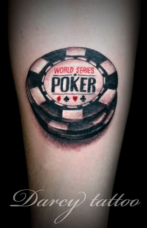 poker chip tattoo designs not around code tattoos chips