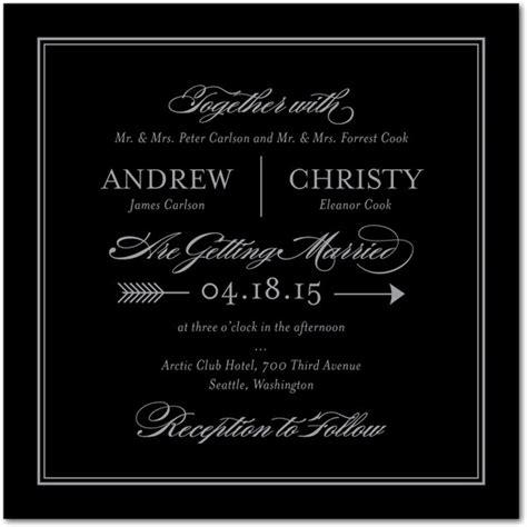 Wedding Invitations Black Paper by Precious Point Foil Sting Wedding Invitations In