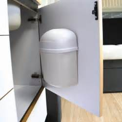 Door Mounted Garbage Can Cabinet Mount Trash Can In Rv Accessories
