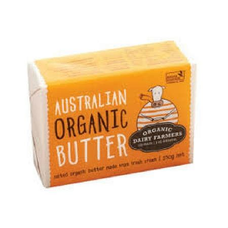 Butter Organic Fresh Salted Dan Unsalted 200g organics perth wanneroo organic food delivery