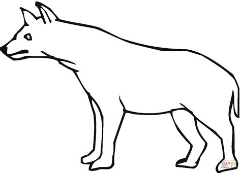 hyena coloring page free printable coloring pages
