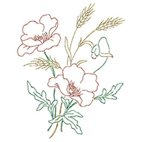 disegni fiori da ricamare papaveri da ricamare