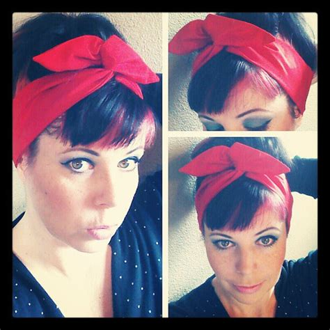 1940s bandana hairstyles bright red dolly bow headwrap bandana from spellbound bows