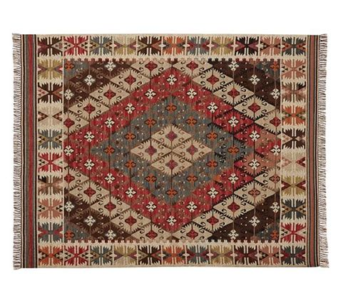 Outdoor Recycled Rugs Rosario Kilim Recycled Yarn Indoor Outdoor Rug Pottery Barn