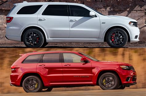 Dodge Durango Jeep Styling Size Up Dodge Durango Srt Vs Jeep Grand