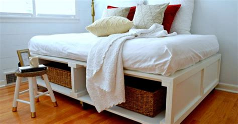 diy platform bed with storage diy platform bed with storage hometalk