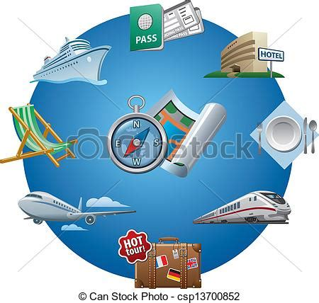 Small Vacation Home Plans Clipart Vector Of Travel Icons Travel And Tourism Icons