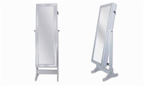 cheval mirror jewelry armoire jcpenney full length cheval mirror and jewelry armoire groupon