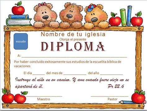certificados de escuela dominical iglesia mar abierto diplomas cristianos para descargar
