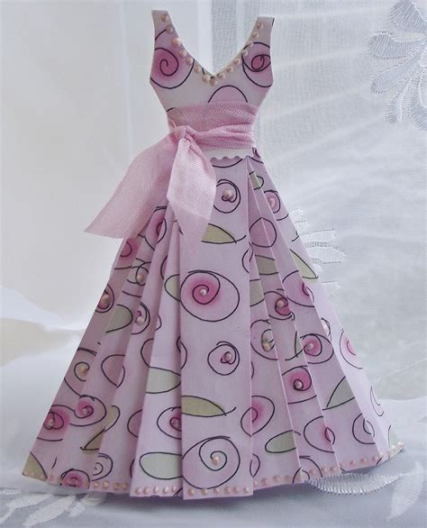 Paper Dress Craft - paper dress tutorial craft ideas paper