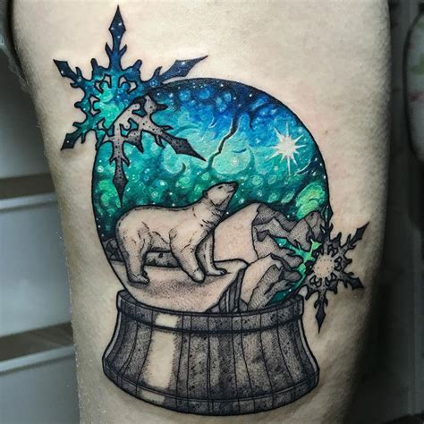 globe tattoos designs polar snow globe best design ideas