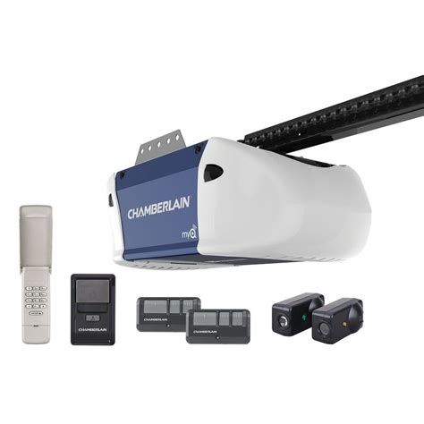 Chamberlains Garage Door Opener Shop Chamberlain 0 5 Hp Chain Drive Garage Door Opener At Lowes