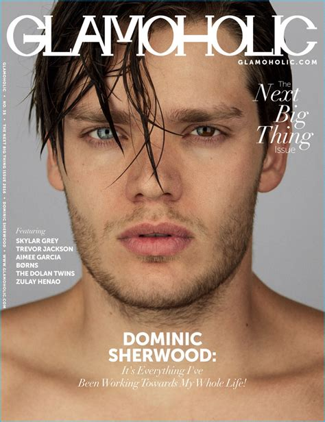 dominic sherwood covers glamoholic talks shadowhunters