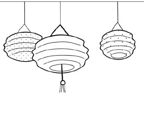 new year lantern drawing new year lantern coloring pages
