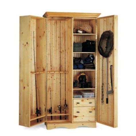 fishing rod storage cabinet an angler s cabinet downloadable plan organizing fish