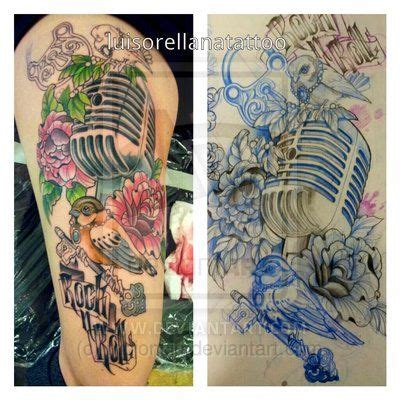 microphone bird tattoo 17 best images about tatts on pinterest rose sleeve
