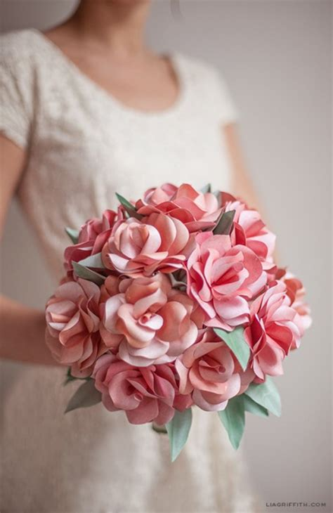 How To Make Paper Flower Bouquets For Weddings - 51 diy paper flower tutorials how to make paper flowers
