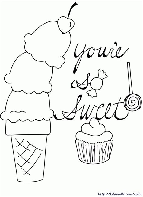 coloring pages ice cream sundae printable ice cream coloring pages coloring home