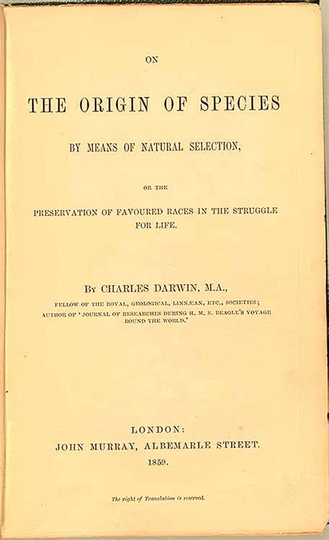 darwin c r 1859 on the origin of species by means of charles darwin 1809 1882