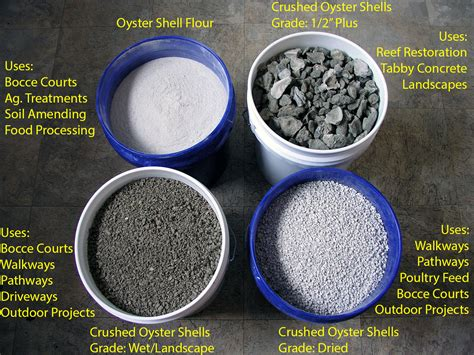 bulk crushed oyster shells offers wholesale and truckload amounts of cleaned crushed oyster shells