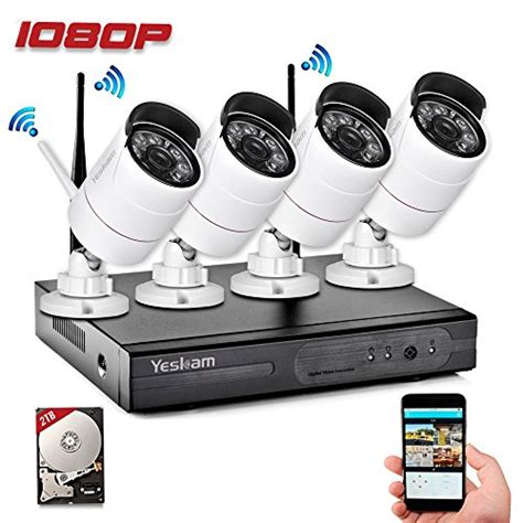 yeskam security system 1080p hd wireless ip cameras