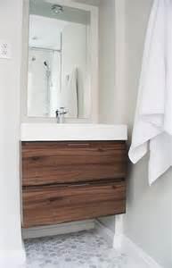 floating bathroom floor walnut design ideas