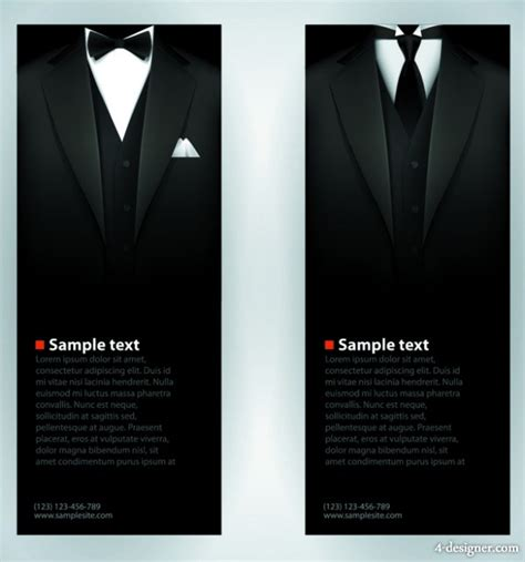 Suit And Tie Card Template by 4 Designer Gentleman Fashion Design Business Card