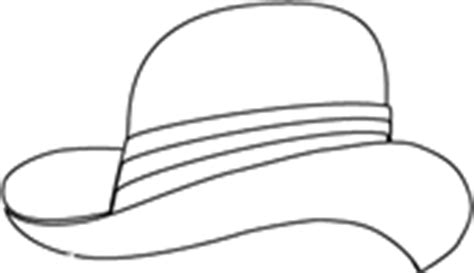 derby hat coloring page dress up costume hats coloring sheet mens hats coloring