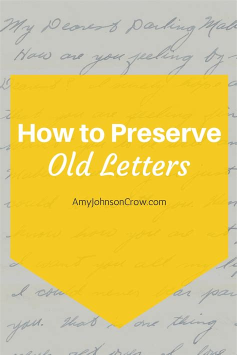 how to preserve your historic how to preserve letters johnson