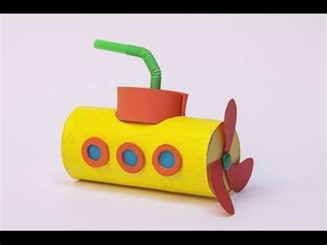 How To Make A Paper Submarine - denizalt箟 yellow submarine made with toilet paper rolls
