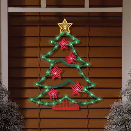 christmas walmart decor lighted tree window decoration walmart
