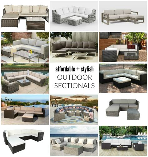 affordable outdoor sectionals affordable outdoor furniture affordable patio furniture