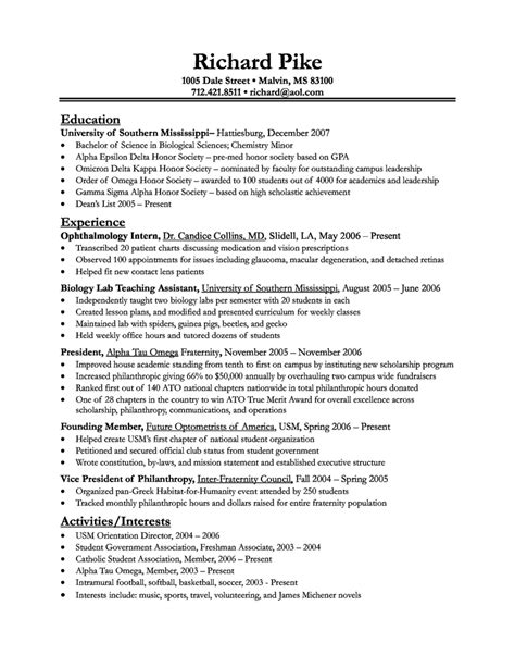 Biology Resume Template Templates Data