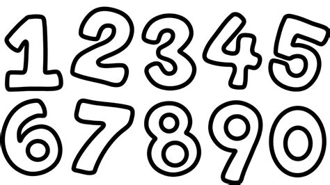 Number Drawing 0 To 9 by Number 9 Coloring Pages With Nine Butterfly Free