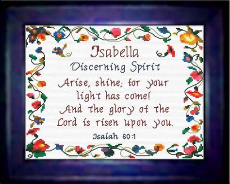 pattern biblical definition name blessings isabella personalized names with